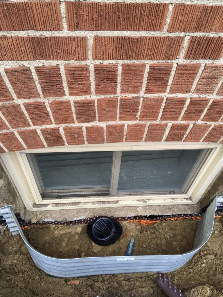 Window Well & Drainage Installed